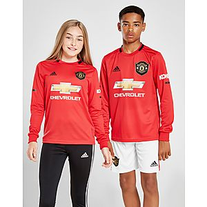778a19096 adidas Manchester United 19 20 LS Home Shirt Jr ...