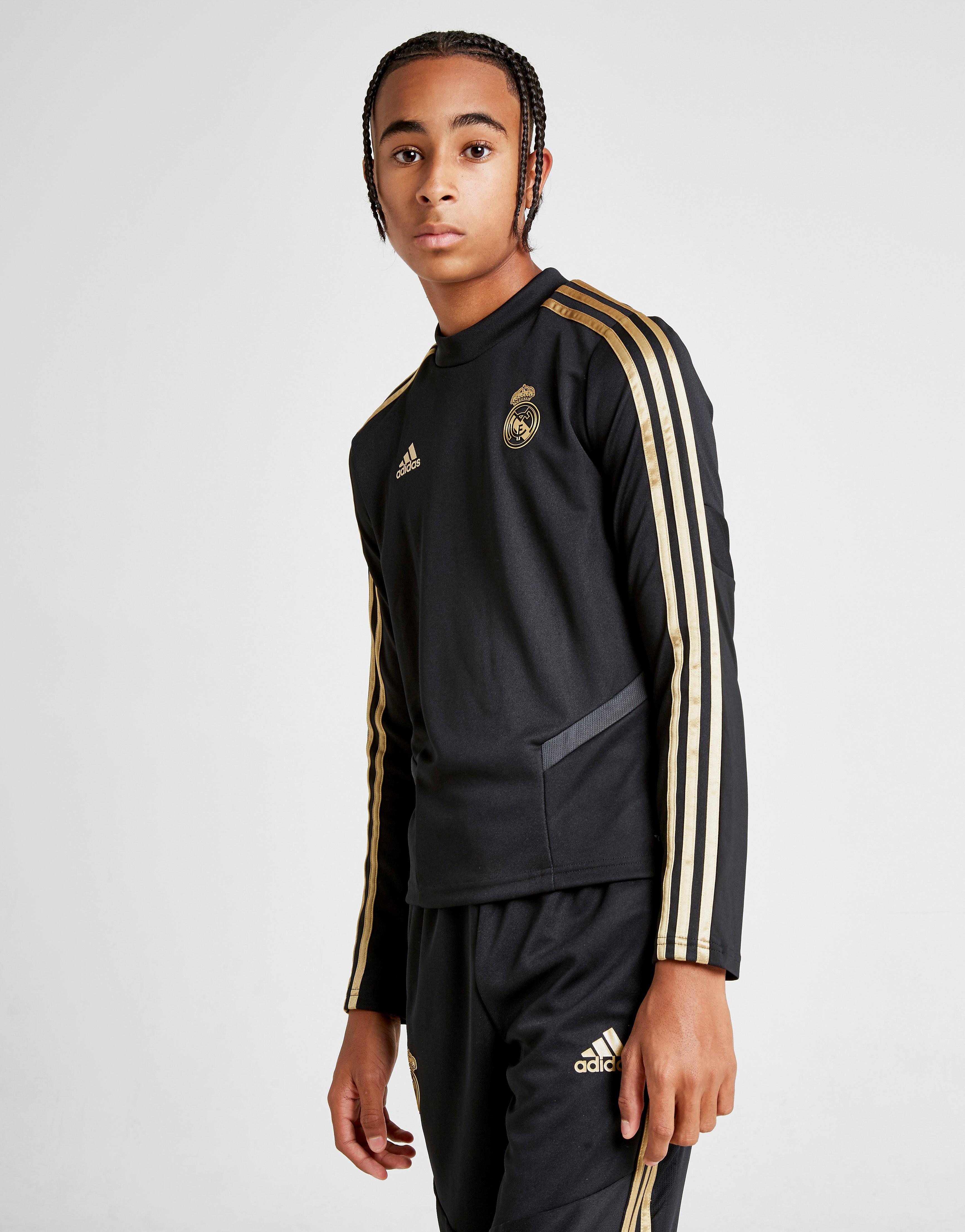 adidas Real Madrid Training Top Junior Zwart Kind