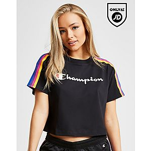 official photos 09bfd 691db Champion Rainbow Tape Crop T-Shirt ...