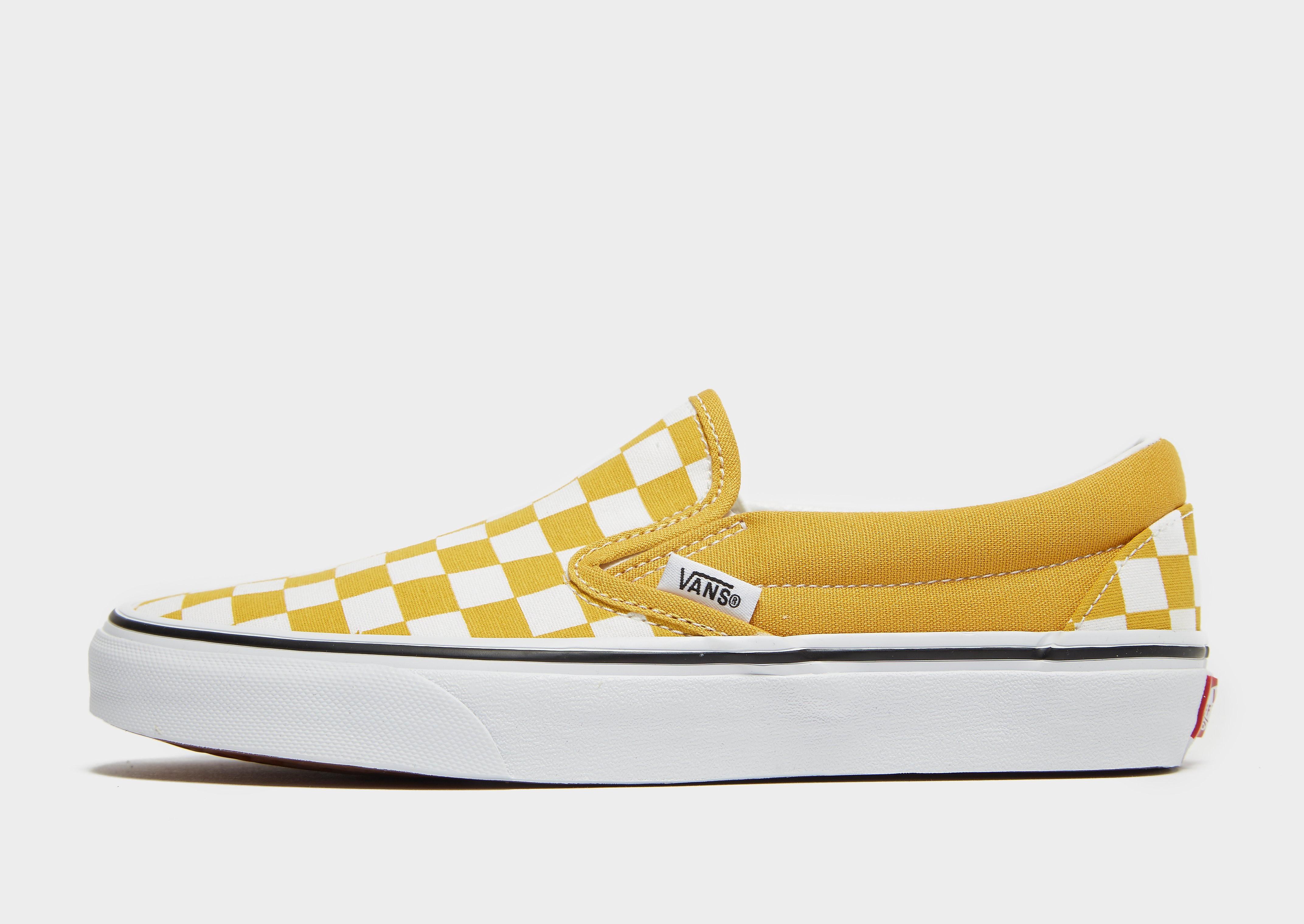 Vans Classic Slip-On damessneaker geel en wit
