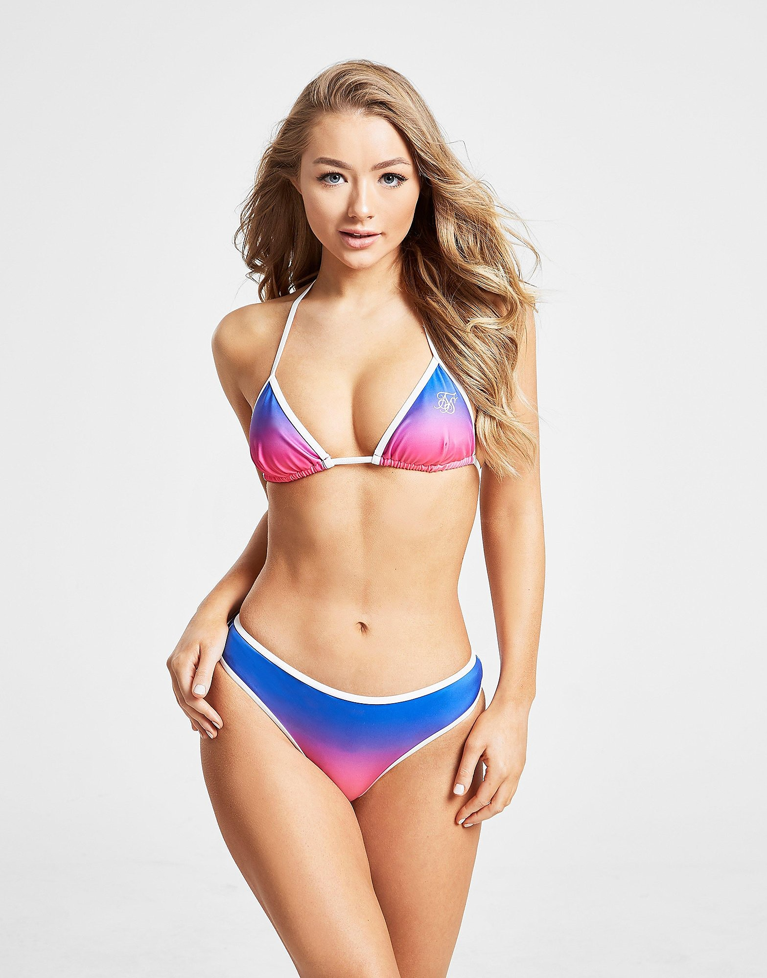 SikSilk Fade Bikini Bottoms Dames - alleen bij JD - Blauw - Dames