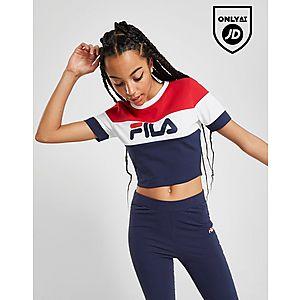 3130c63edaf Fila Colour Block Crop T-Shirt ...