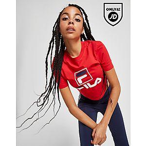ad0fb1de9 Fila Stack Logo Crop T-Shirt ...