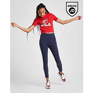 c7b04d7449809 ... Fila Stack Logo Crop T-Shirt