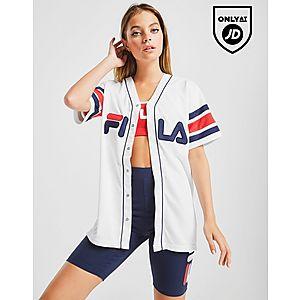 04035bb676f Fila Stripe Baseball T-Shirt ...