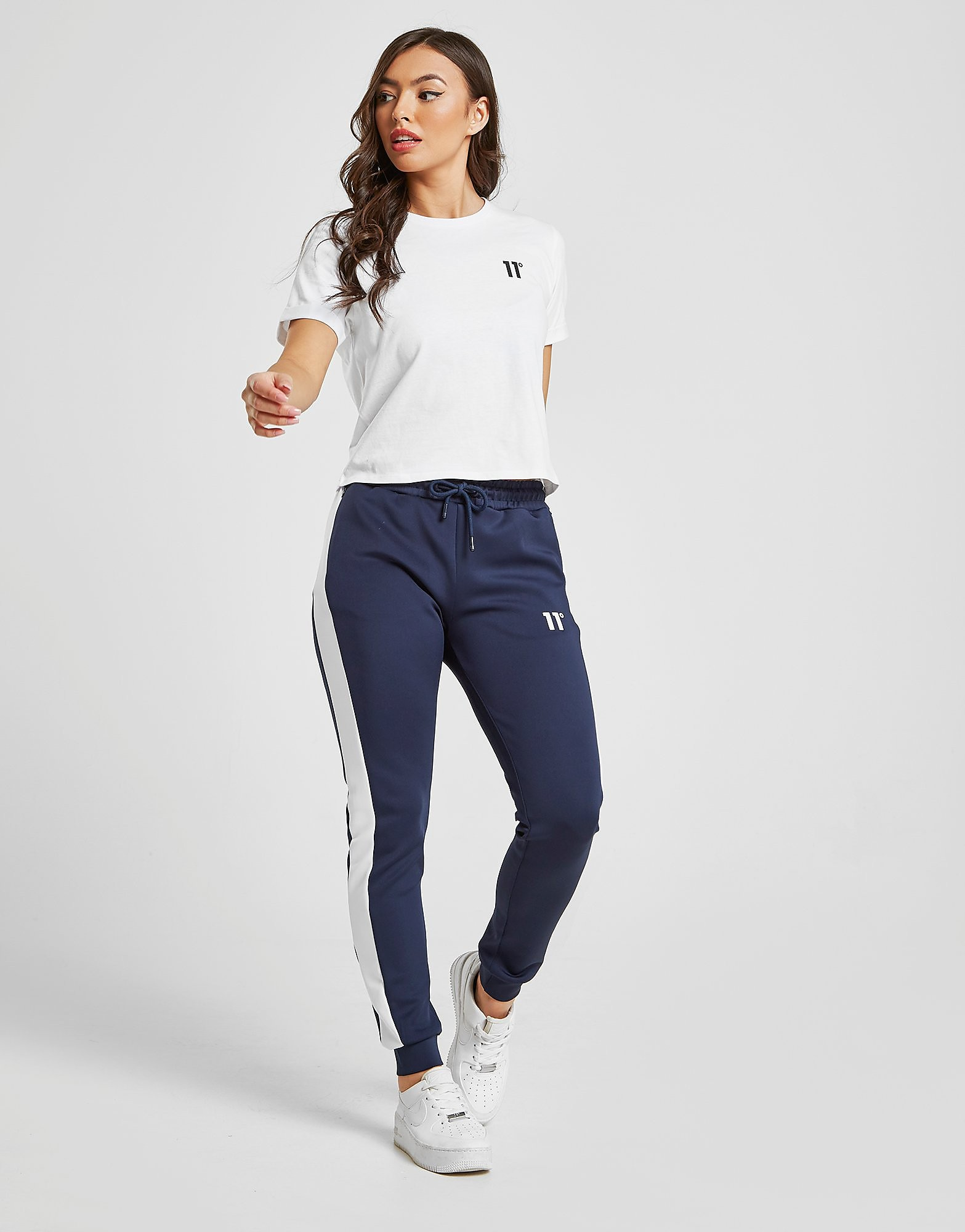 11 Degrees Poly Panel Joggers - Blauw - Dames