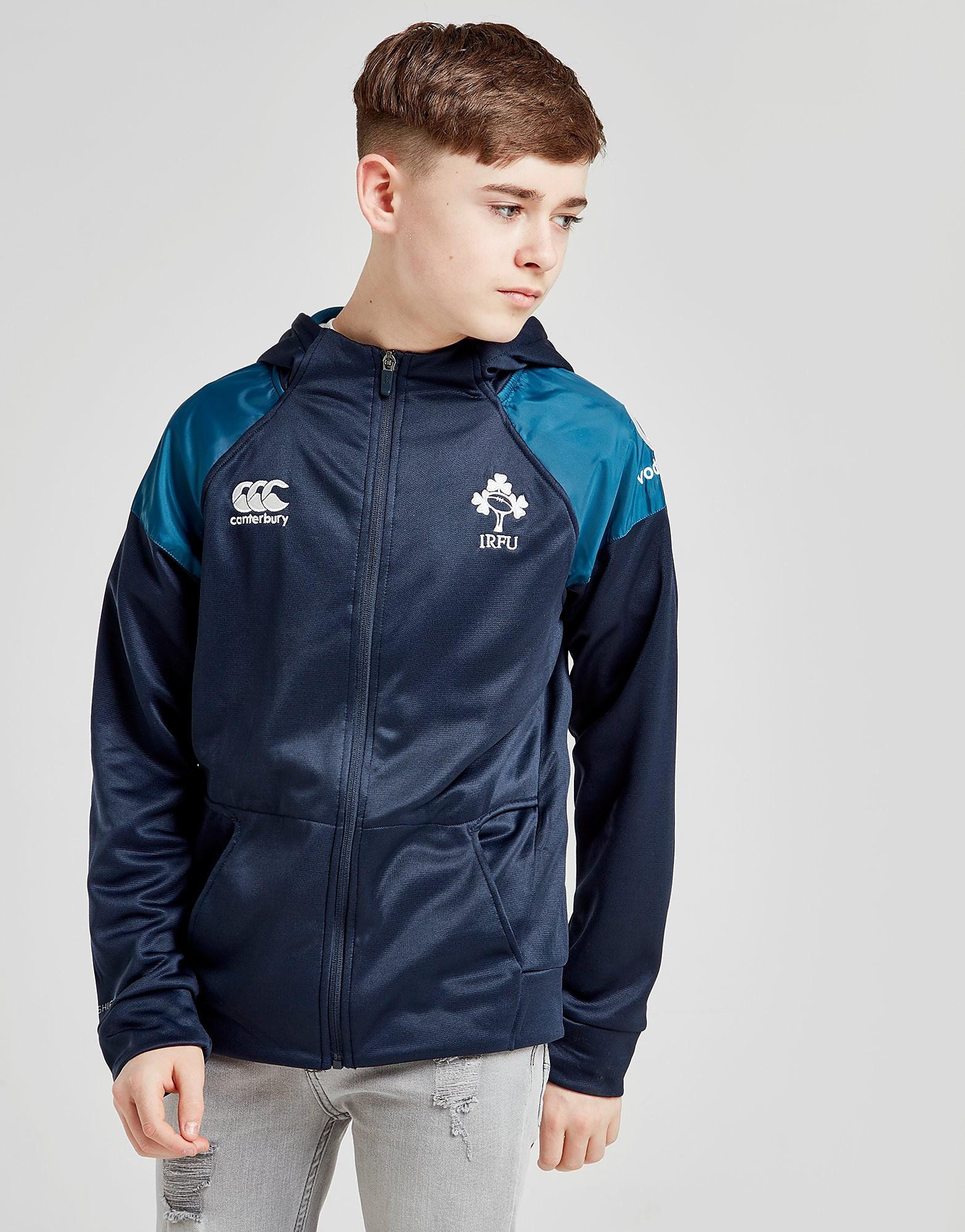 Canterbury Ireland RFU Hybrid Full Zip Hoodie Junior - Blauw - Kind