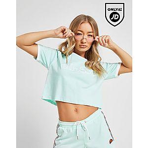 8d0a73e0242af5 Ellesse Piping Crop T-Shirt ...