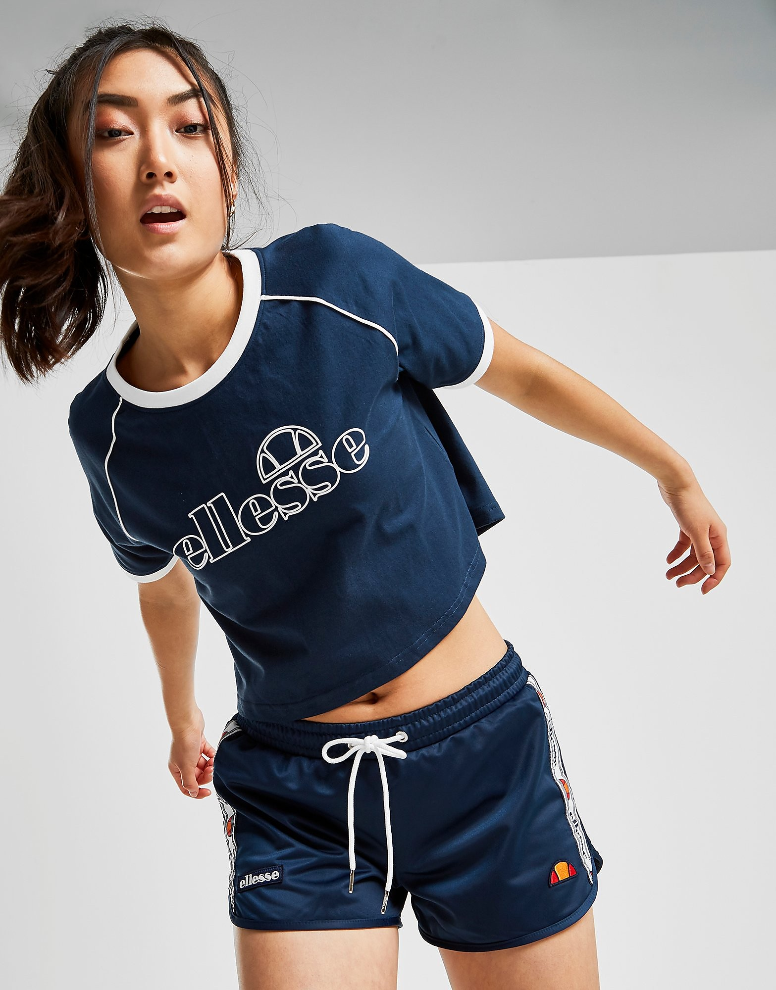 Ellesse Piping Crop T-Shirt