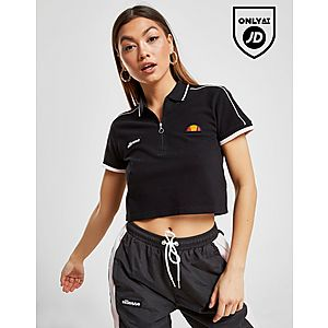 0939617b0f98 Ellesse Piping Crop Polo Shirt ...