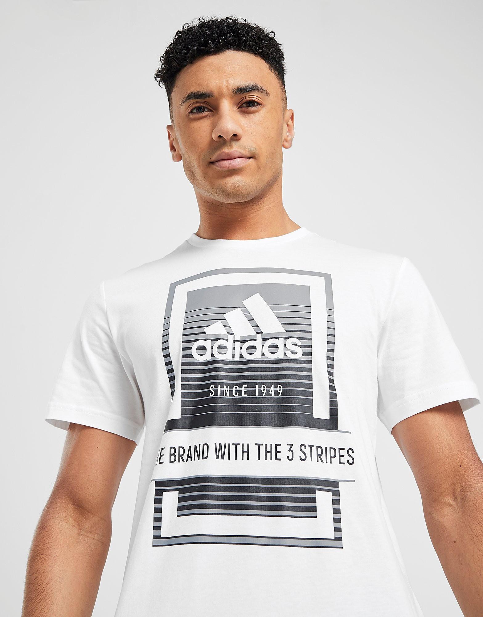 adidas Box Fade Logo T Shirt