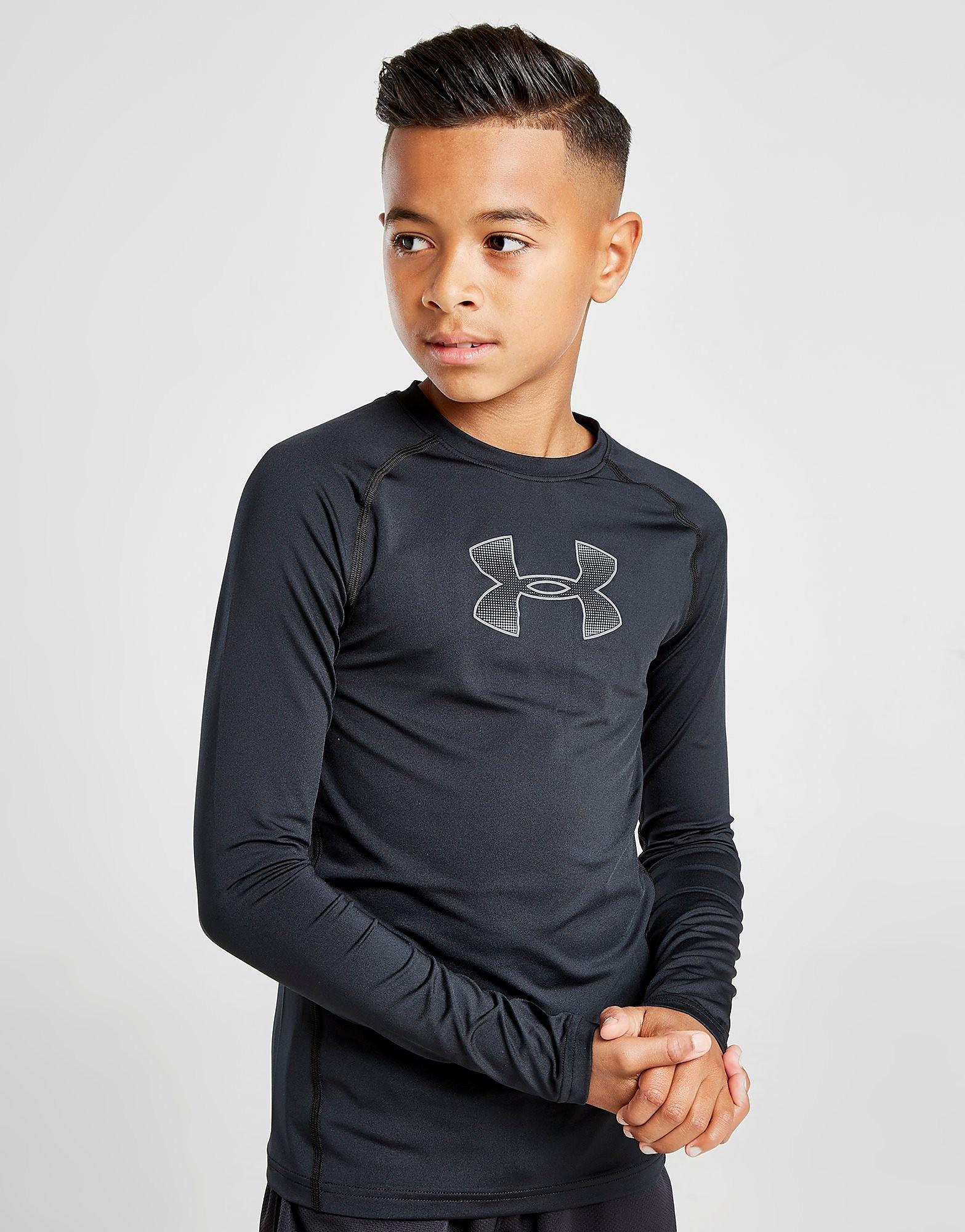 Under Armour Long Sleeve T-Shirt Junior Zwart Kind Zwart