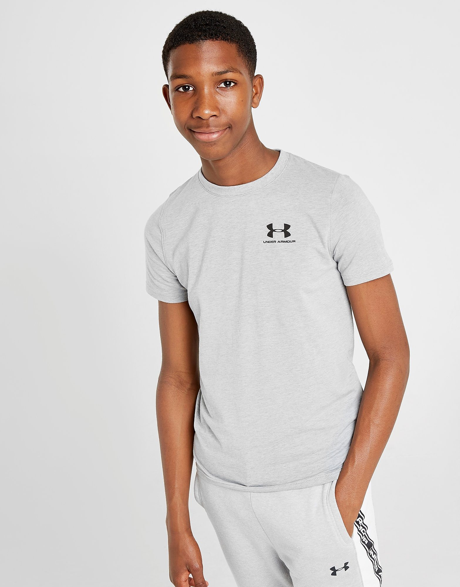 Under Armour Charged Cotton T-Shirt Junior Grijs Kind