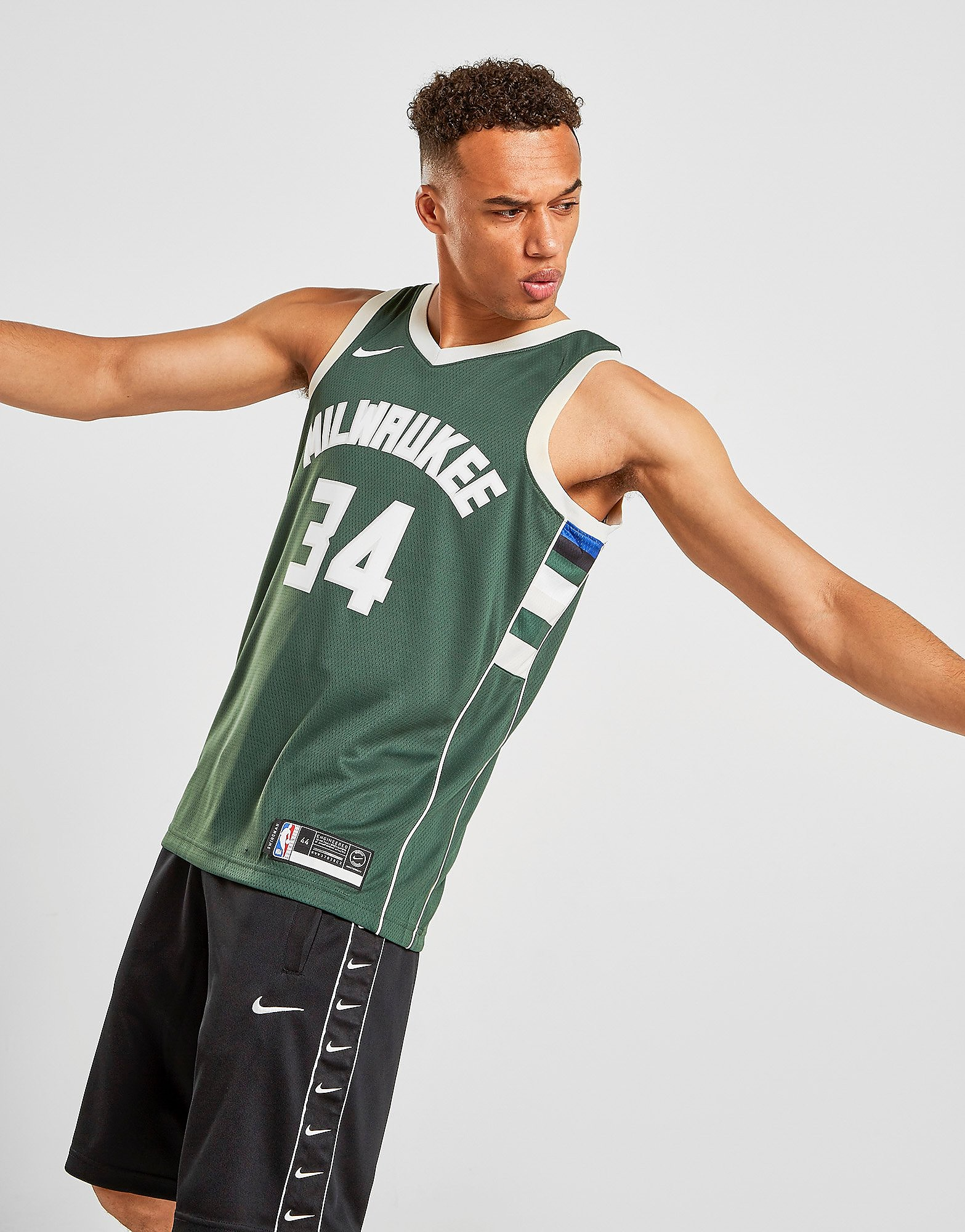Nike NBA Milwaukee Bucks Swingman Giannis #34 Jersey Heren Groen Heren