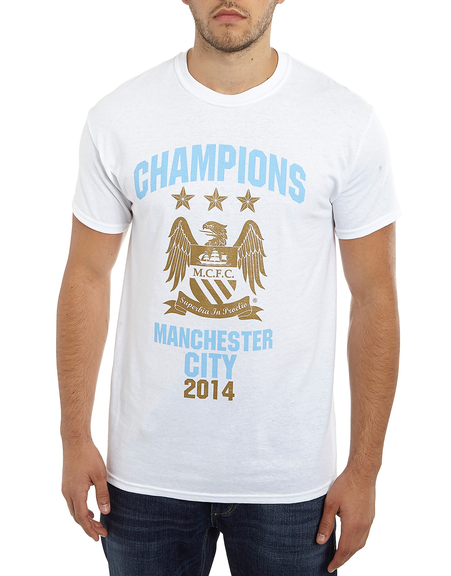 Official Team Manchester City 2014 Champions T-Shirt