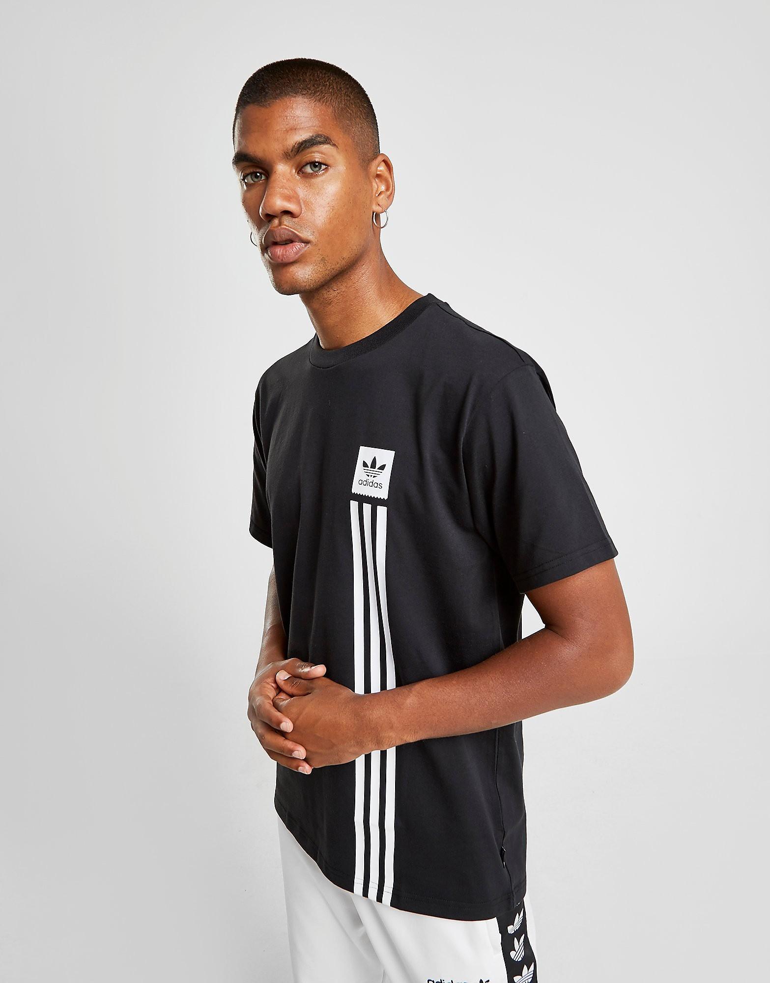 adidas Originals T-Shirt Manches Courtes Pillar Homme - Noir, Noir