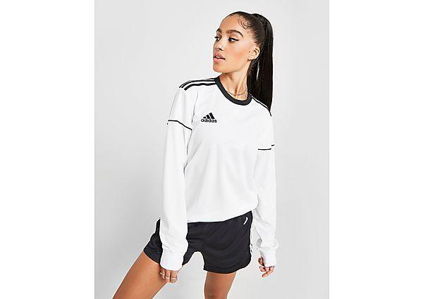 Ropa deportiva Mujer adidas camiseta de manga larga Squad, White/Black