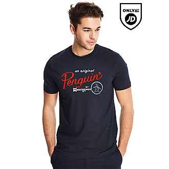 Original Penguin Script Circle T-Shirt
