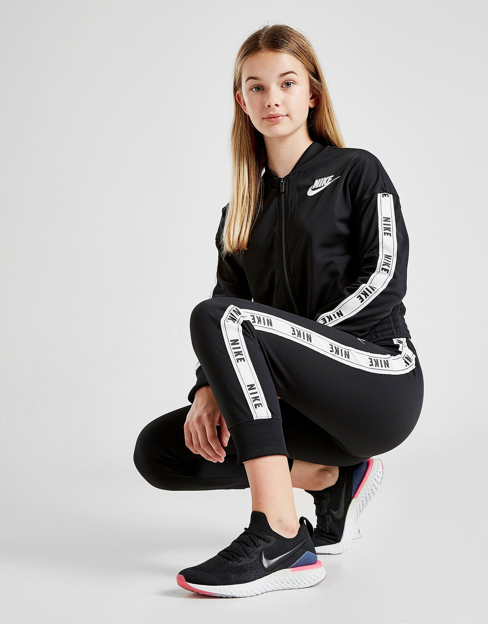 Nike Ensemble de Survêtement Fille Tricot Junior - Noir, Noir