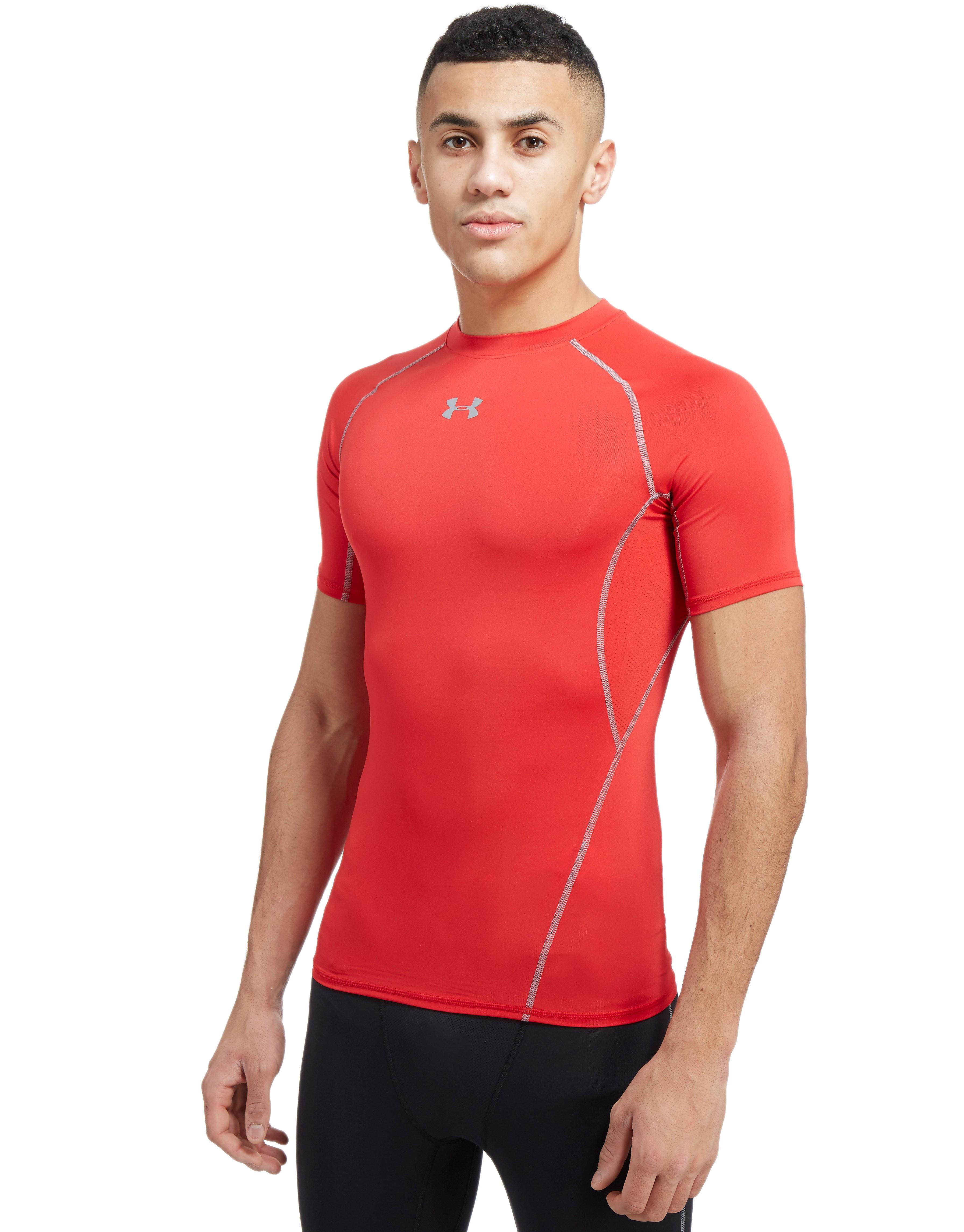 Under Armour HeatGear Compression T-Shirt Heren - Rood - Heren