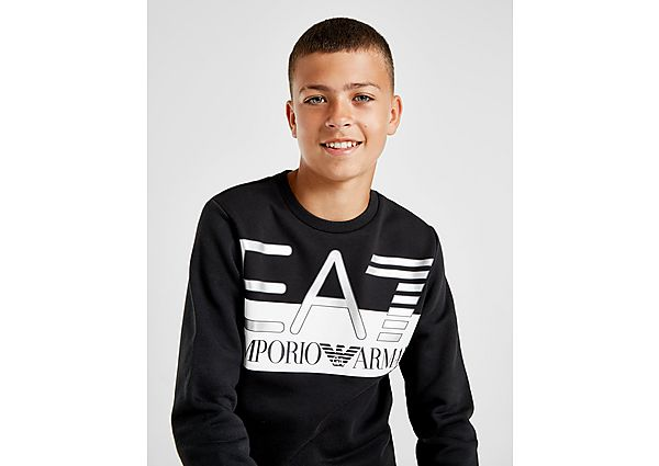 Emporio Armani EA7 Oversize Logo Crew Sweater Junior - Black/White - Kind