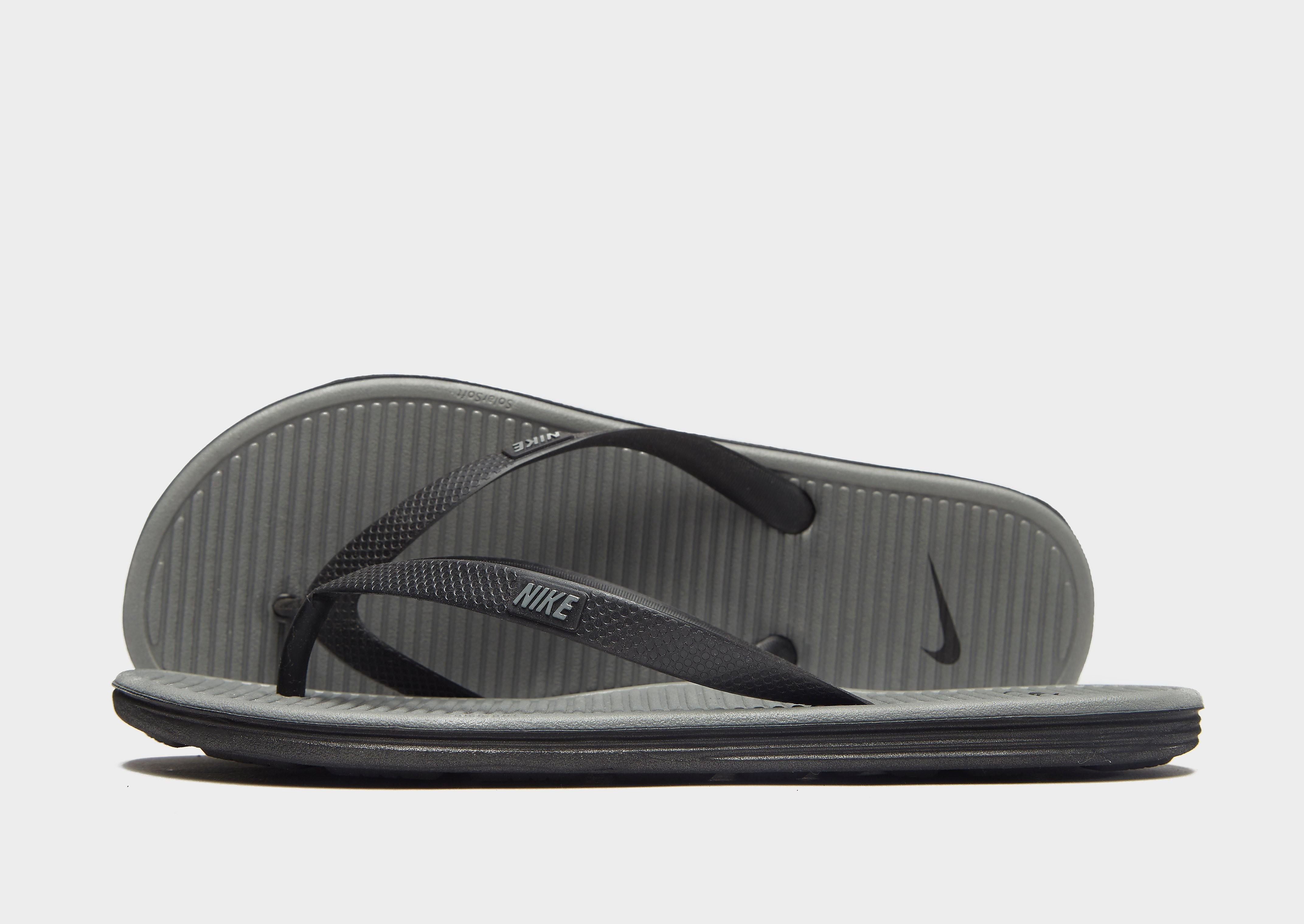 Nike Solarsoft II-teenslippers - Grijs - Heren