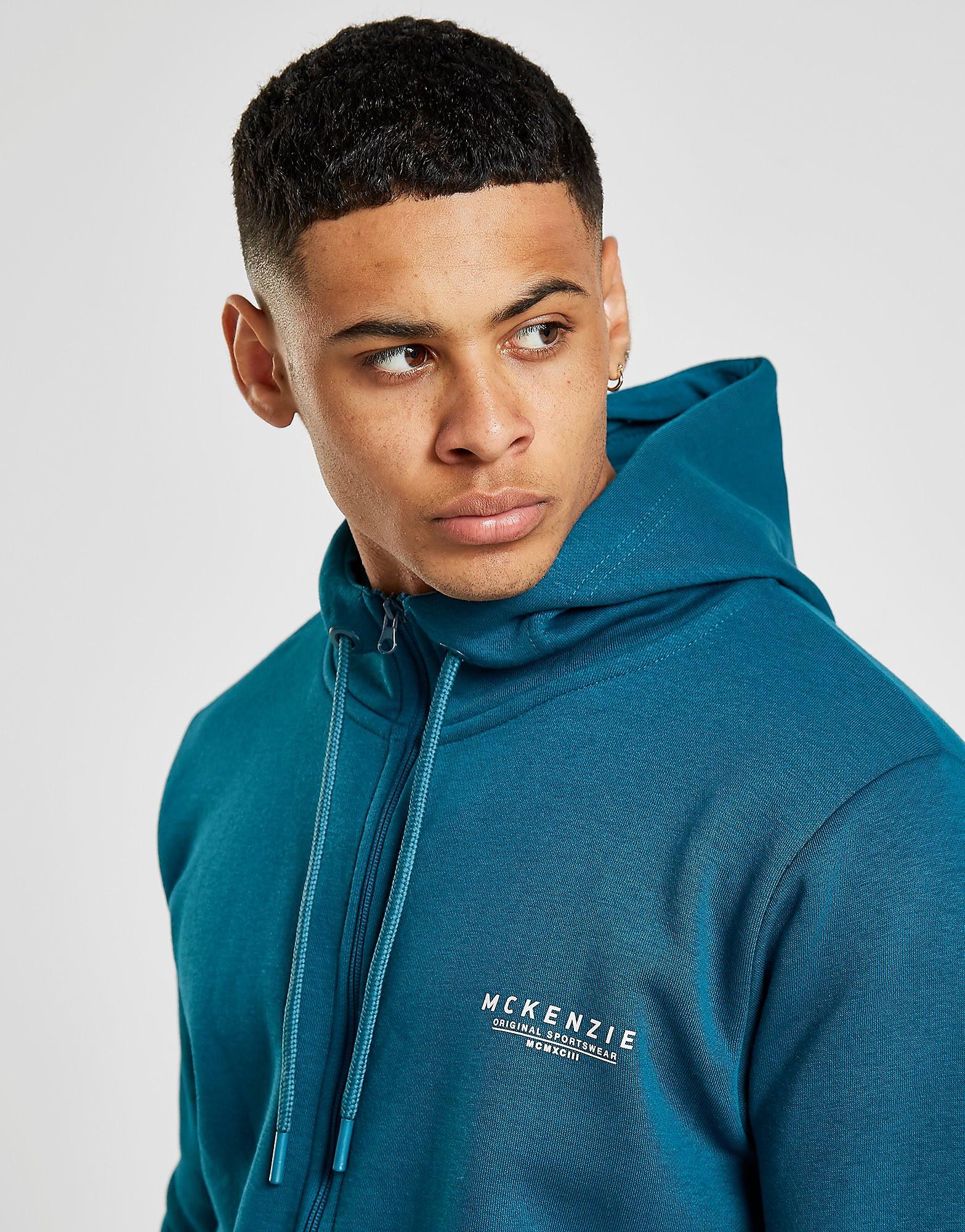 McKenzie Essential Zip Through Hoodie Heren - alleen bij JD - Blauw - Heren