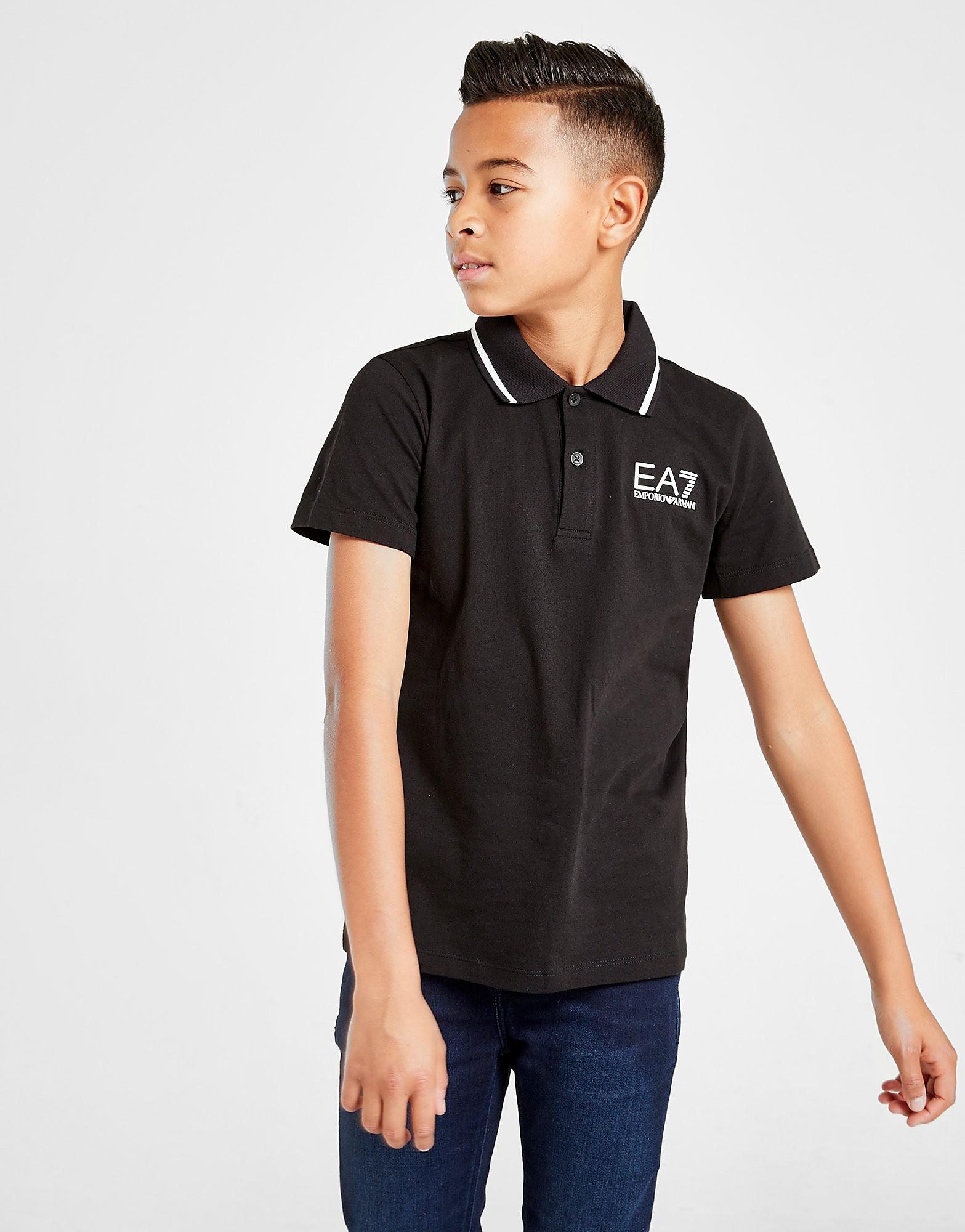 Emporio Armani EA7 Core Polo Shirt Junior Zwart Kind Zwart