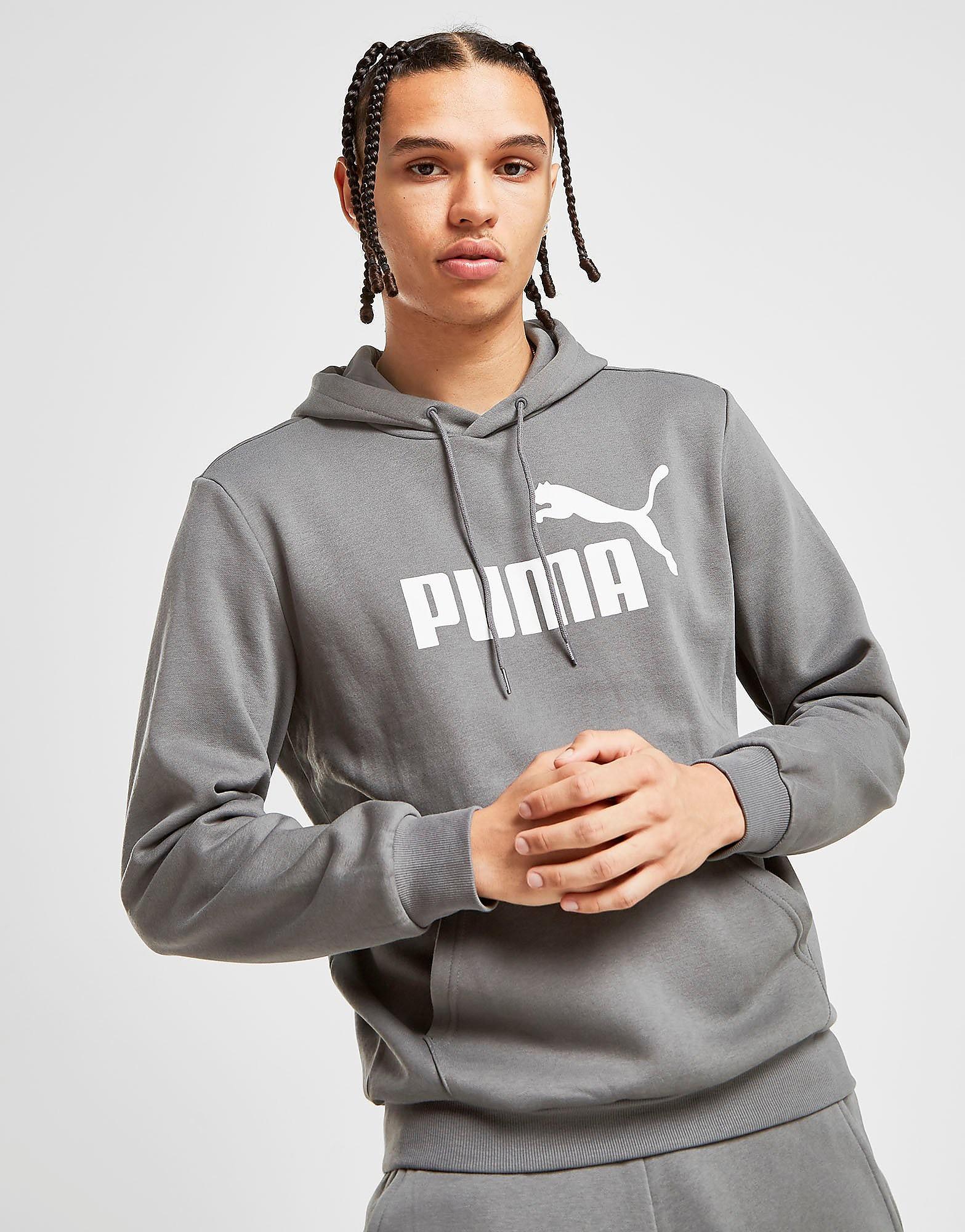 PUMA Core Logo Overhead Hoodie Heren - alleen bij JD - Grijs - Heren, Grijs