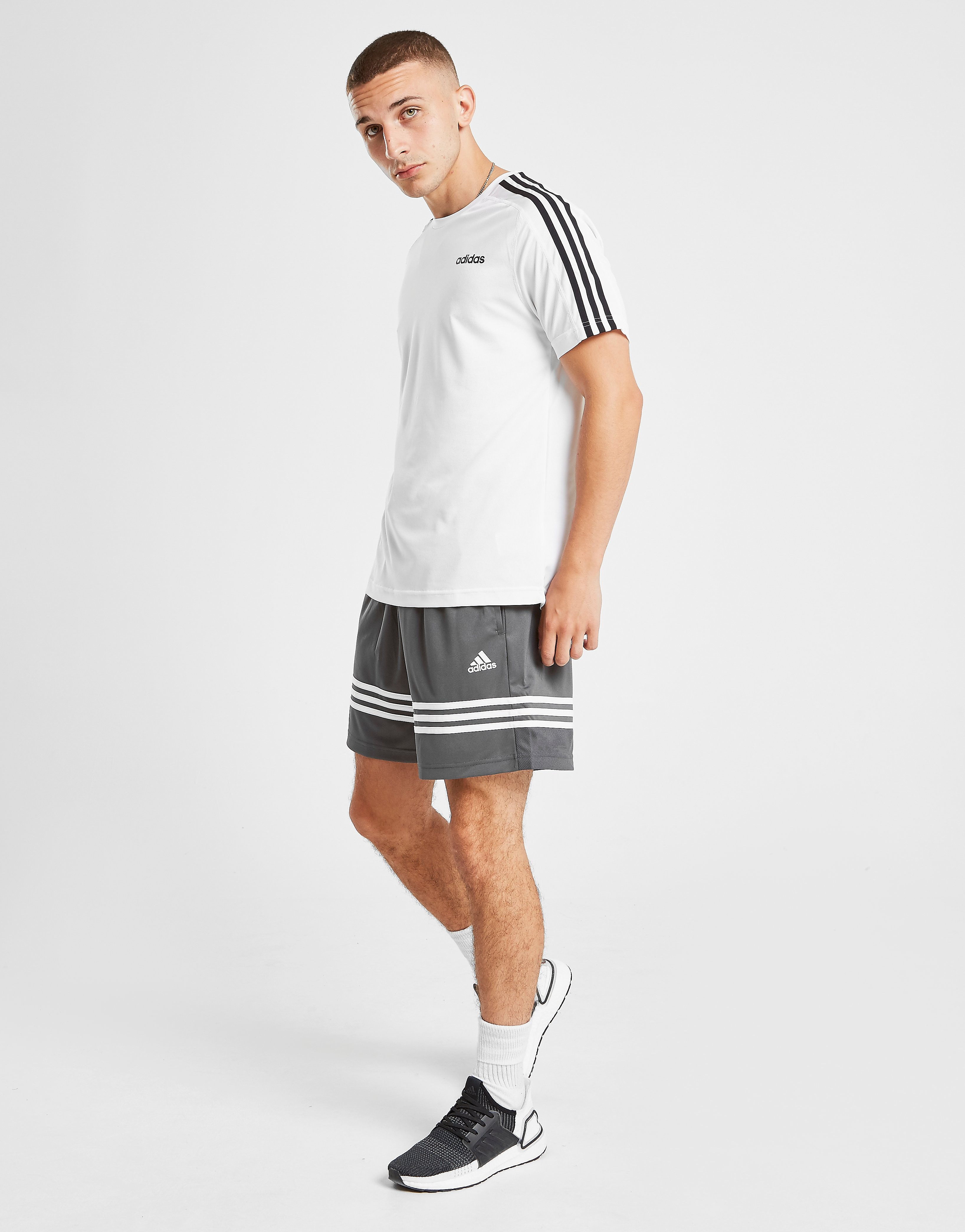 adidas Short Match Homme - Only at JD - Gris, Gris