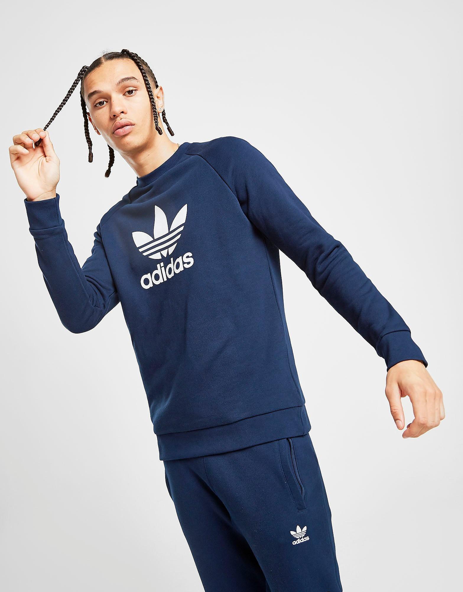 adidas Originals  State Crew Sweatshirt Heren Blauw Heren Blauw