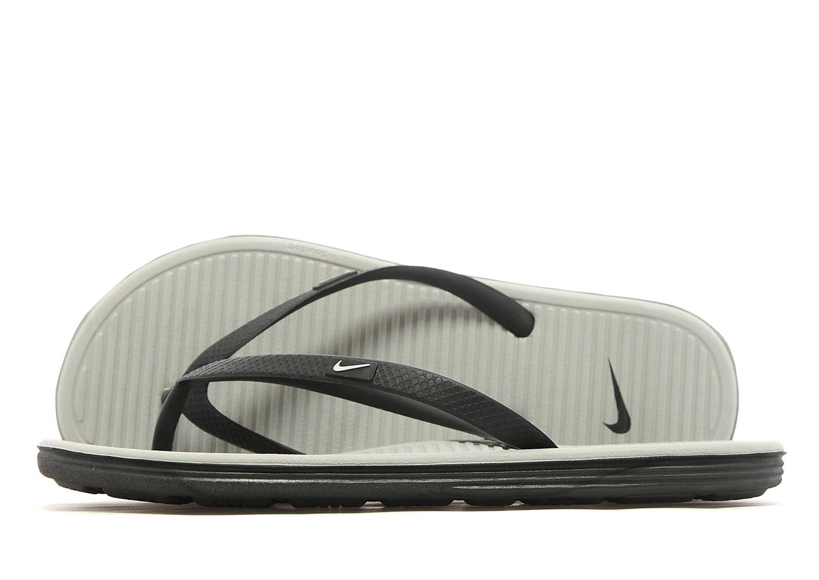 d8d3413f0cfc Nike Solarsoft II Flip Flops Women s - Black Silver - Womens ...
