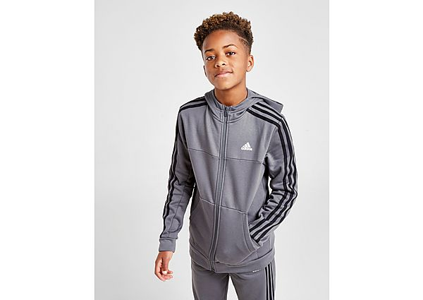 Adidas Badge of Sport Fleece Full Zip Hoodie Junior - Grey/Black - Kind