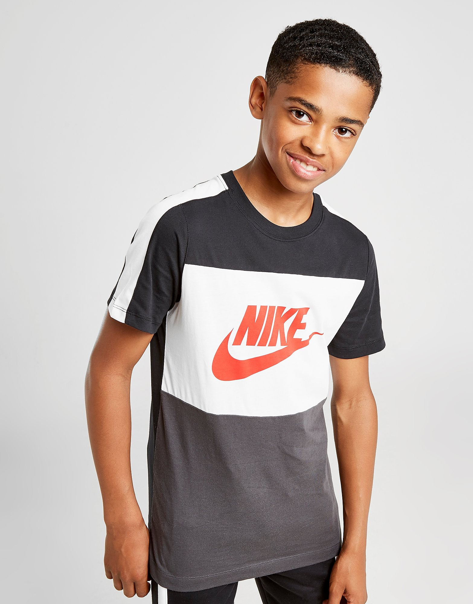 Nike Hybrid T-Shirt Junior Zwart Kind