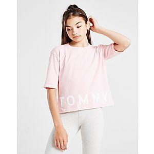 68cc1692 Tommy Hilfiger Girls' Sport Logo Cropped T-Shirt Junior ...