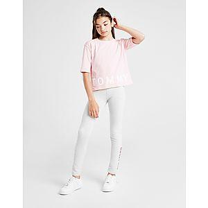 7eed59c0 ... Tommy Hilfiger Girls' Sport Logo Cropped T-Shirt Junior