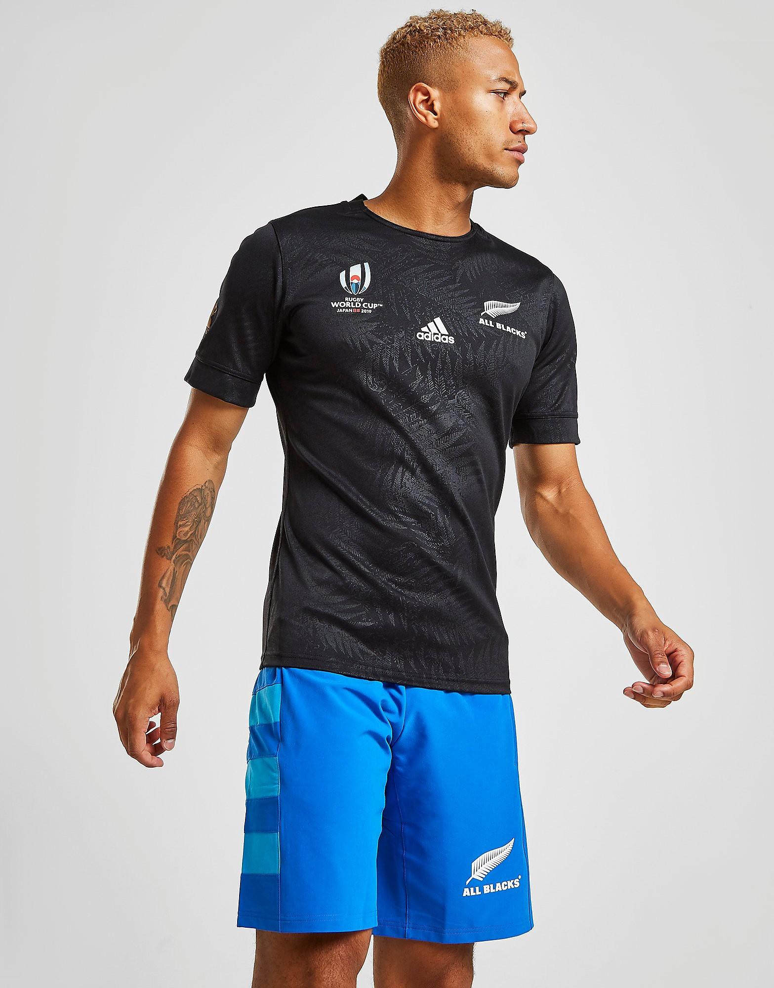 adidas All Blacks Rugby World Cup 2019 Shorts Heren Blauw Heren