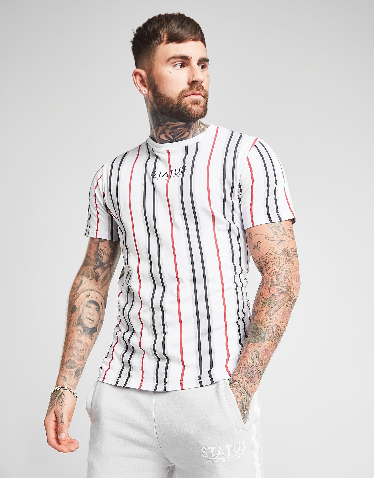 STATUS T-Shirt Duke Homme - Blanc, Blanc