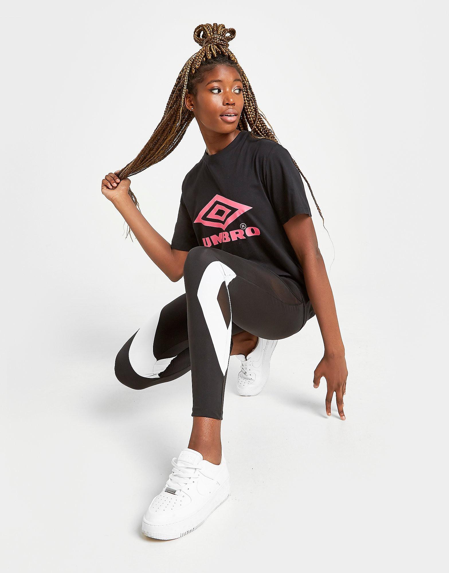 Umbro Core Logo Boyfriend T-Shirt Dames - Zwart - Dames