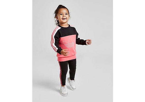 Adidas Originals Girls' Spirit Colour Block Crew Suit Baby's - Pink - Kind