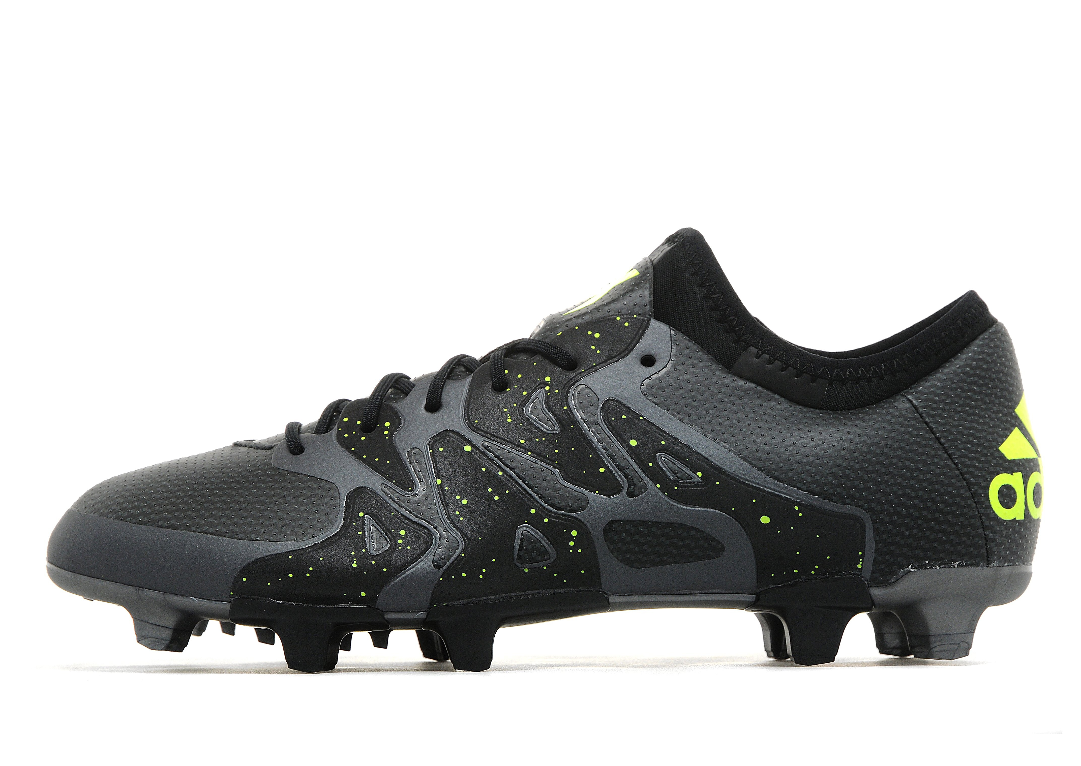 soccer boots cleats adidas x 15 1 fg black yellow grey. Black Bedroom Furniture Sets. Home Design Ideas