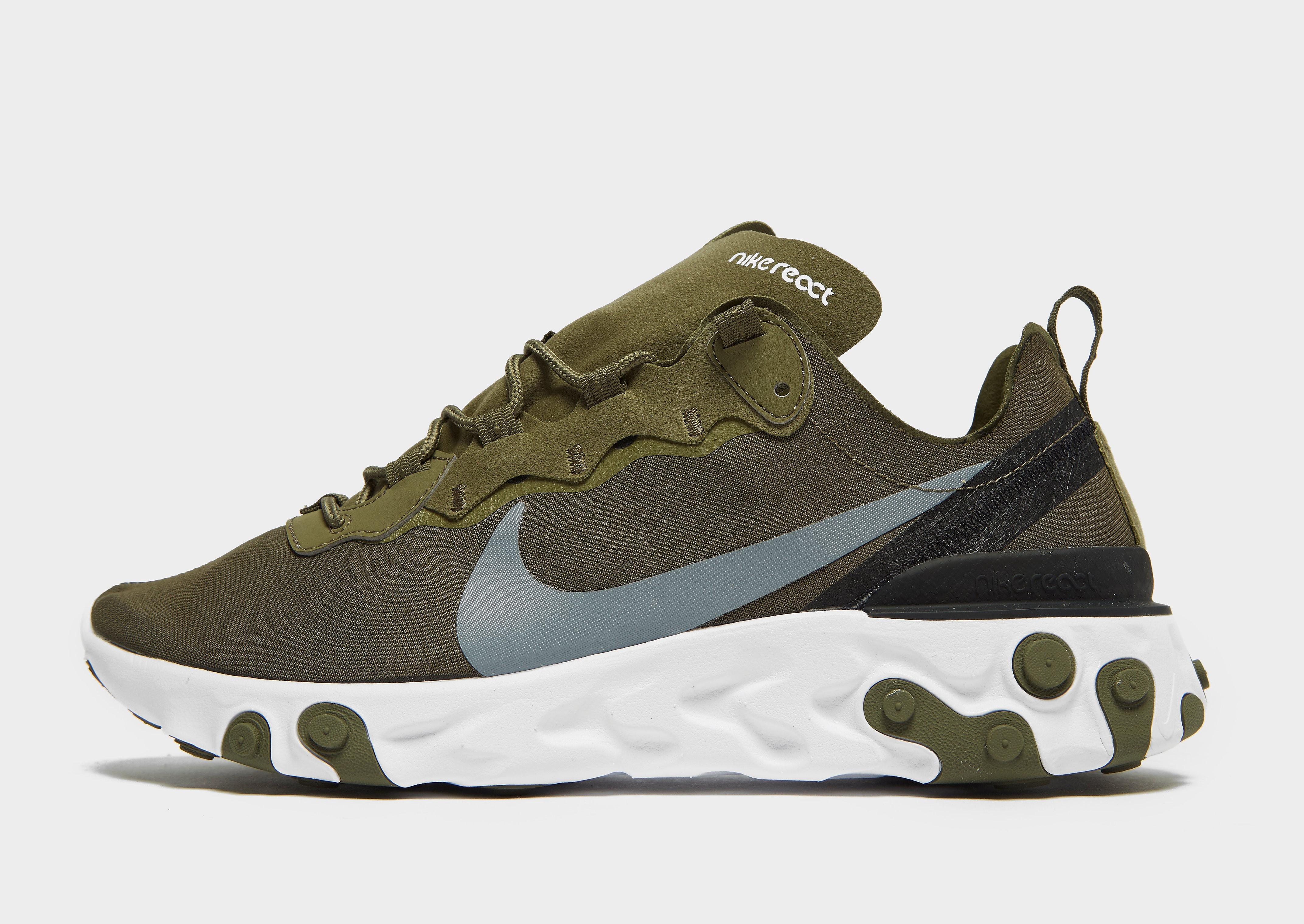 Nike React Element 55 Heren - Khaki/Grey/Black - Heren