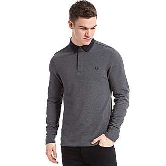 Fred Perry Woven Collar Long Sleeve Polo Shirt