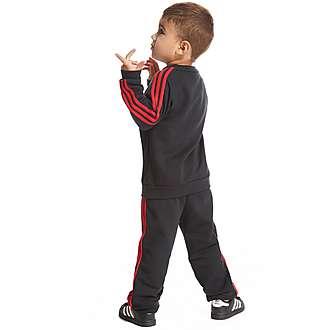 adidas Manchester United 3 Stripe Jogger Suit Children