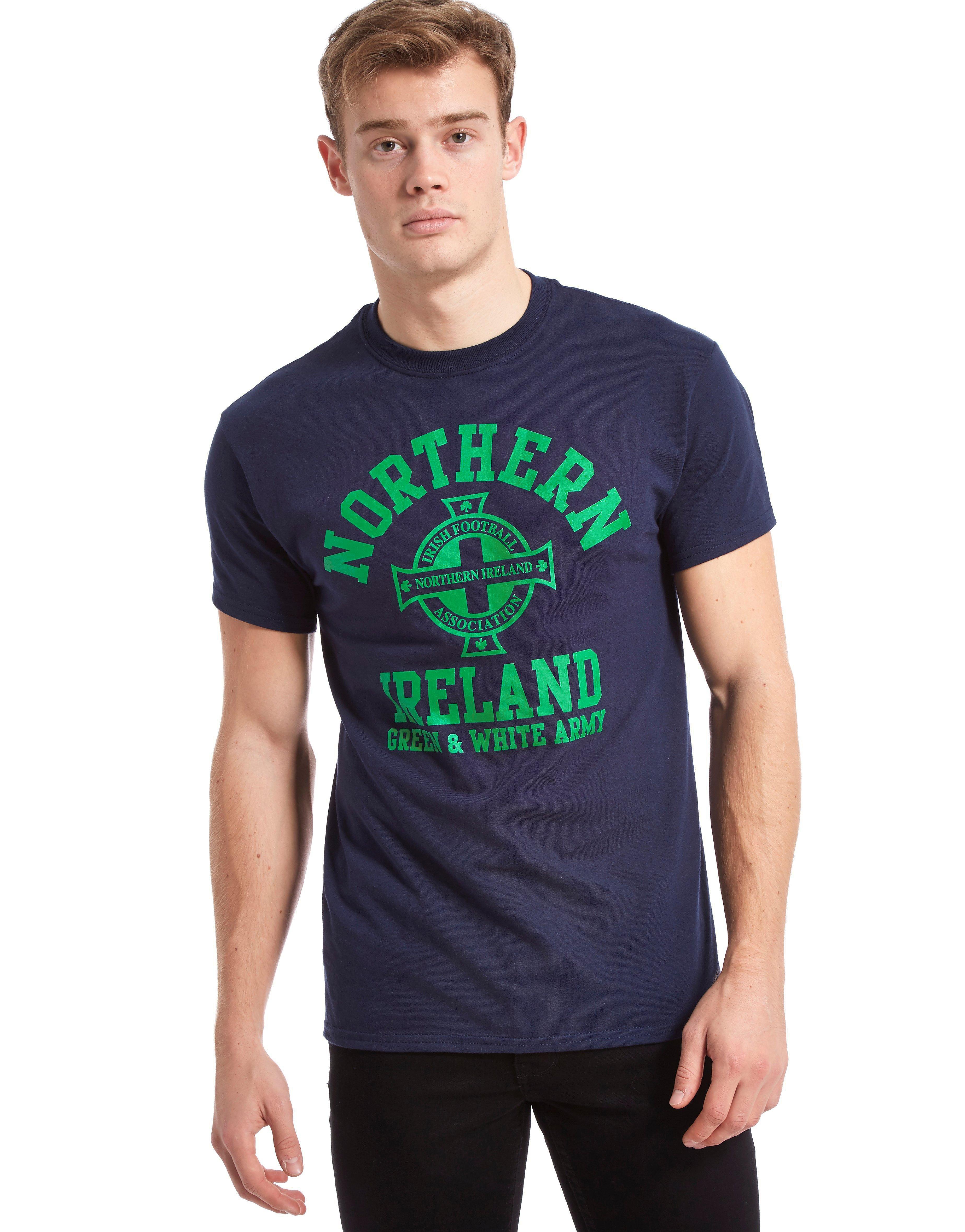 Official Team Noord-Ierland t-shirt met gebogen logo