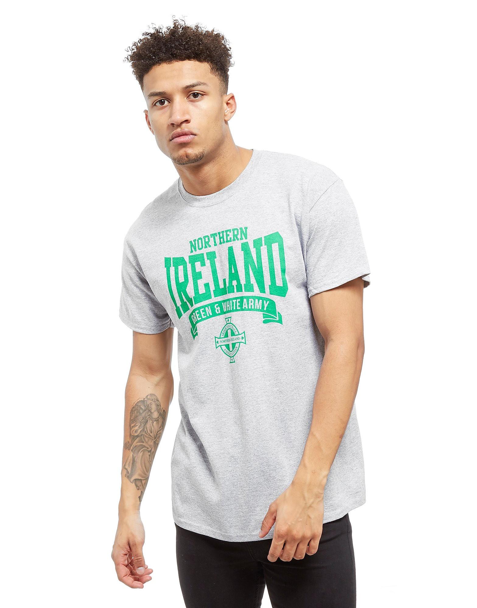 Official Team Nordirland Scroll T-Shirt - Heather Grey - Mens, Heather Grey