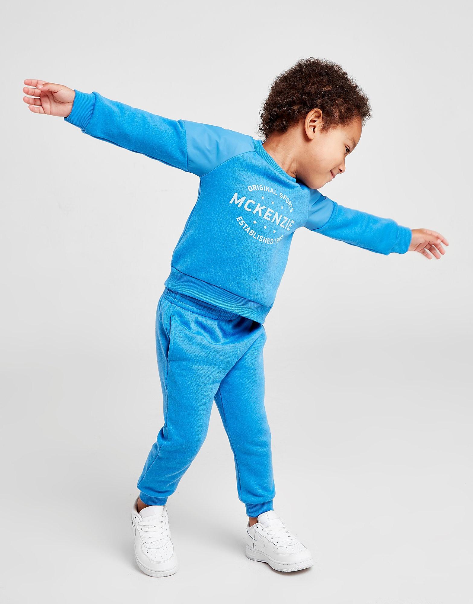 McKenzie Micro Sodalite Crew Trainingspak Baby's - Blauw - Kind