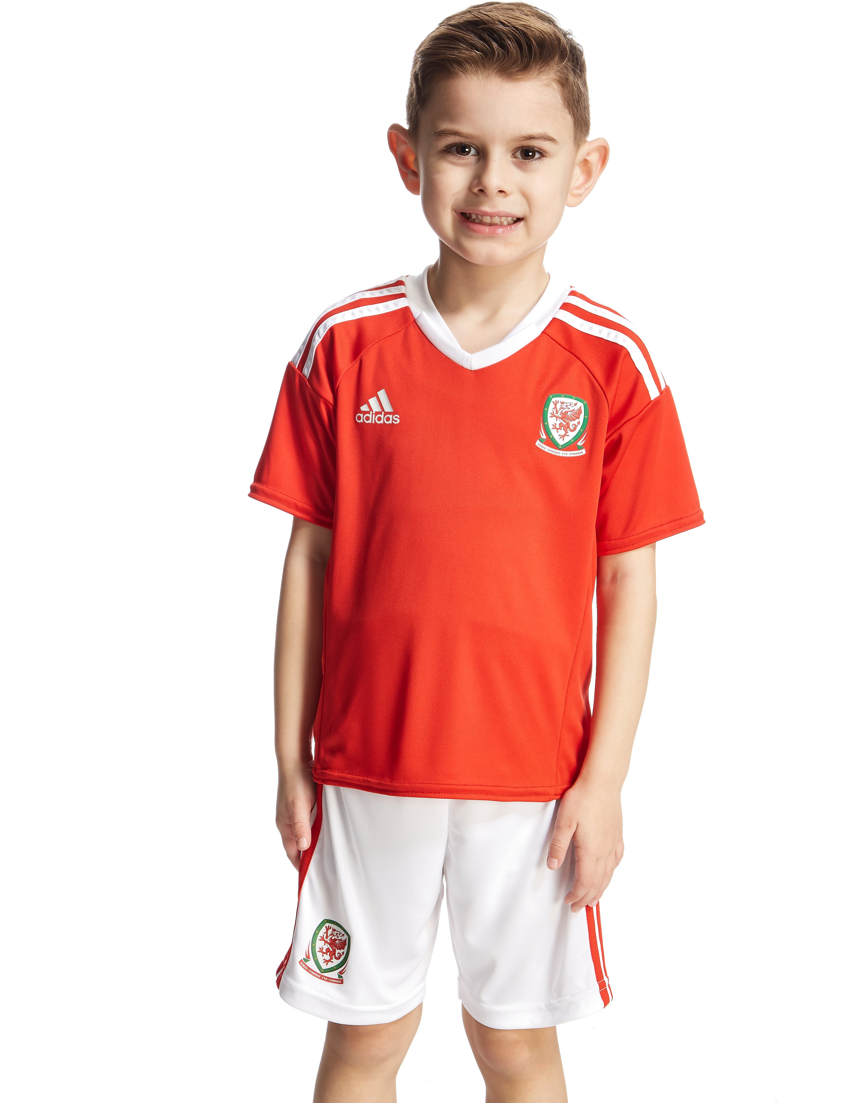 adidas FA Wales Home 2016 Kit Children