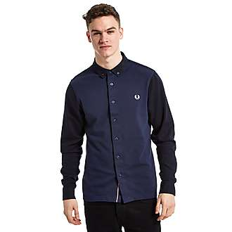 Fred Perry Pique Front Longsleeve Shirt