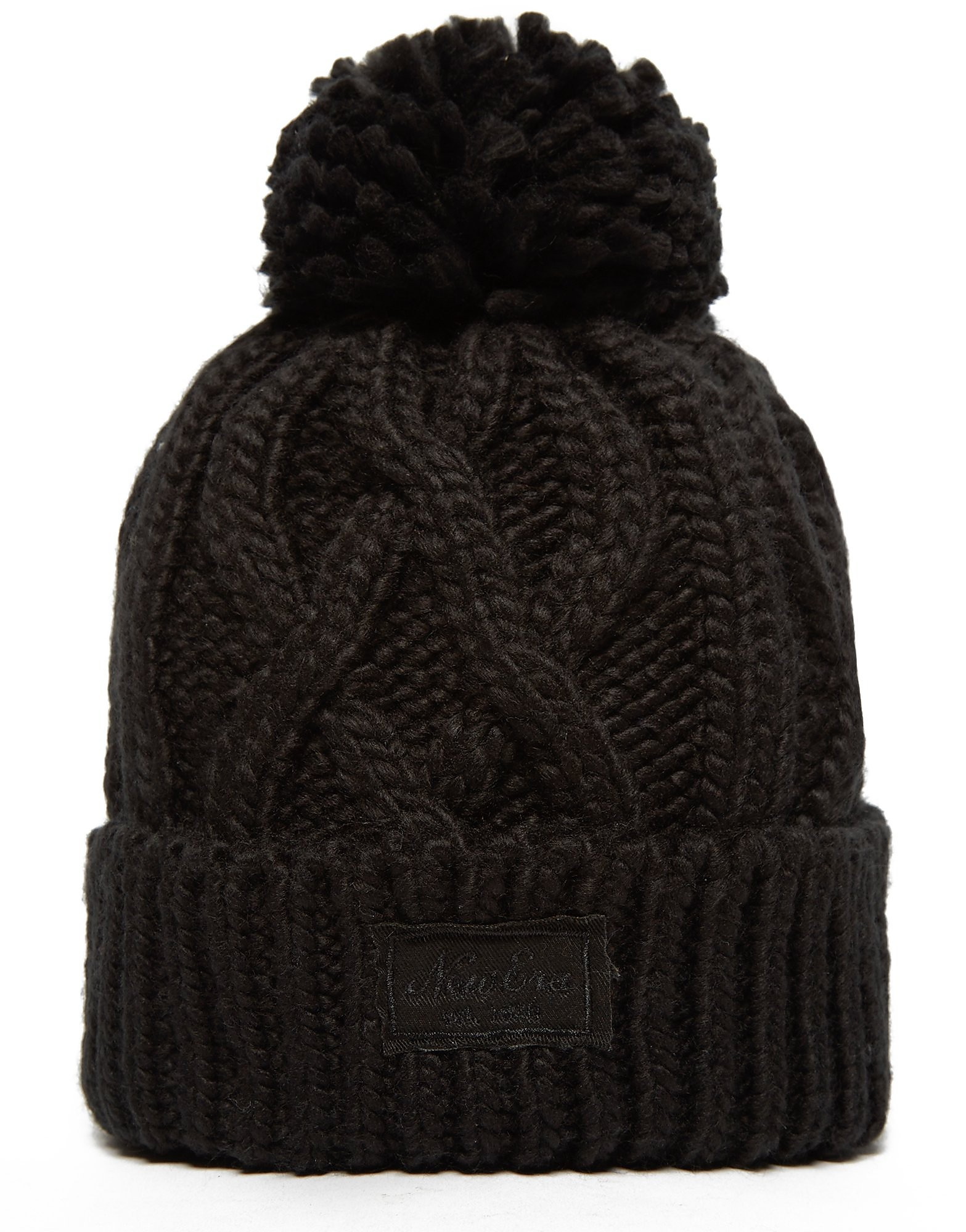 New Era Patch Pom Pom Beanie Hat